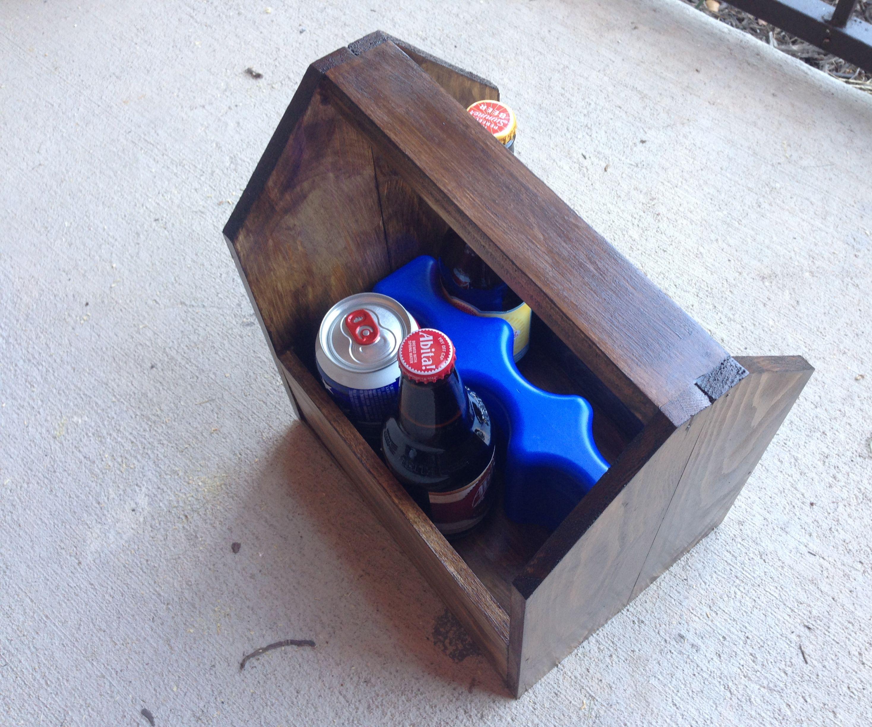 Wooden Six Pack Cooler