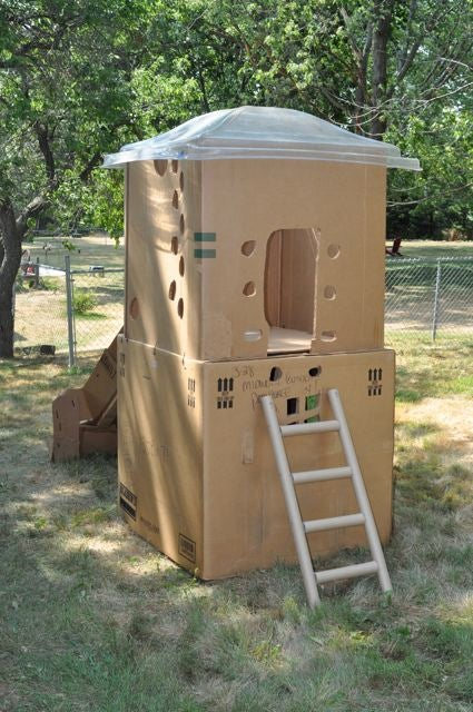 2-Story Cardboard Clubhouse