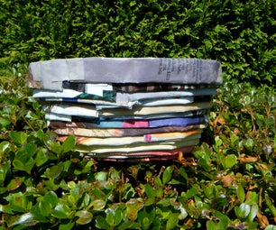 How to Make a Bowl Out of Magazines in Thirty Seconds