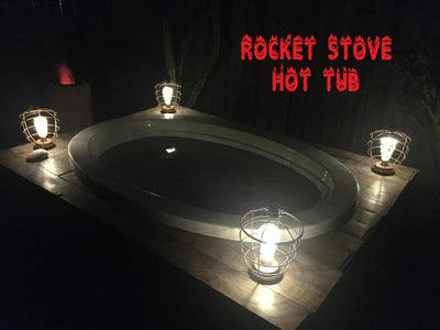 Wood-fired Rocket Stove Hot Tub