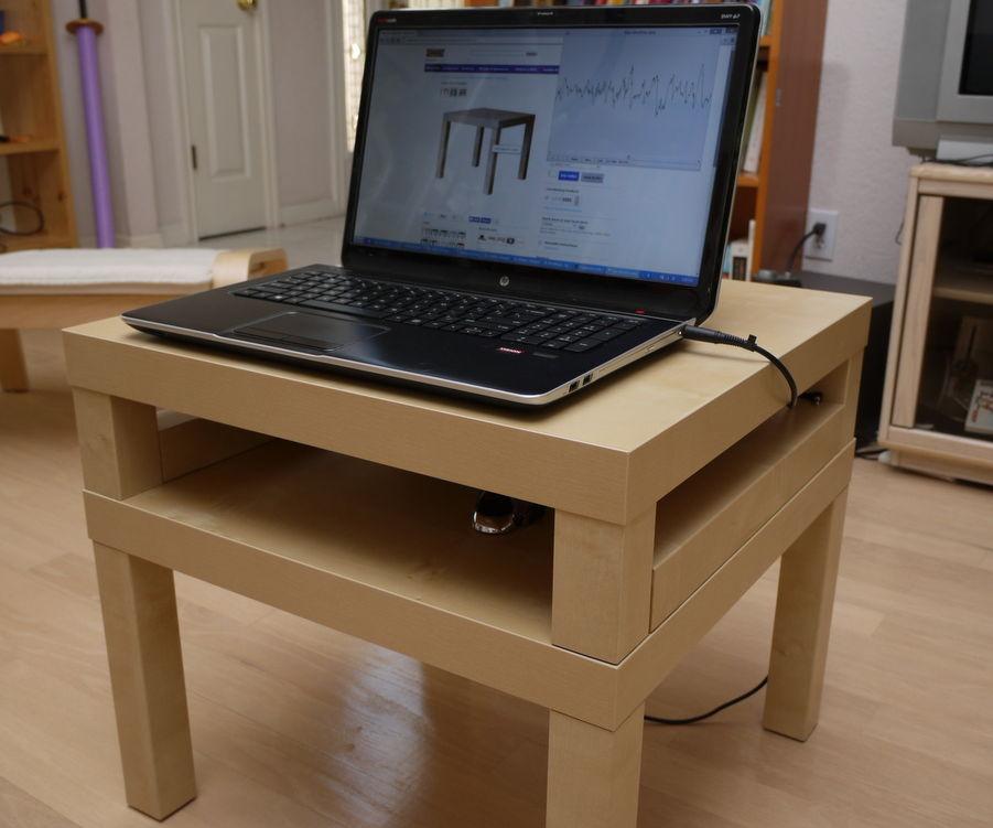 Dual Lack laptop desk