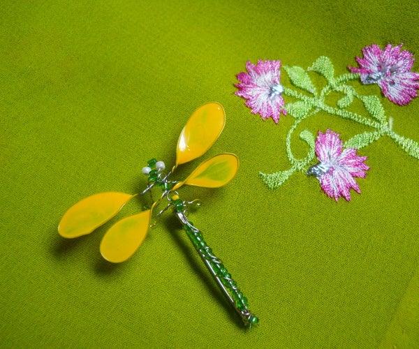 Beaded Dragonfly Brooch