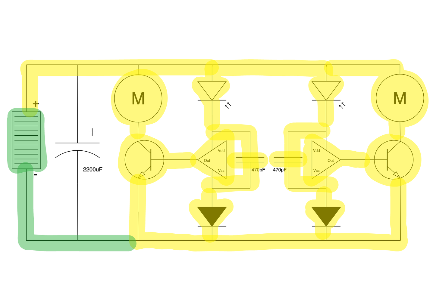 Freeforming the Circuit 12: Connecting Negative to the Solar Panel