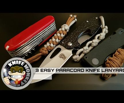 How to Make 3 Easy Paracord Knife Lanyards.