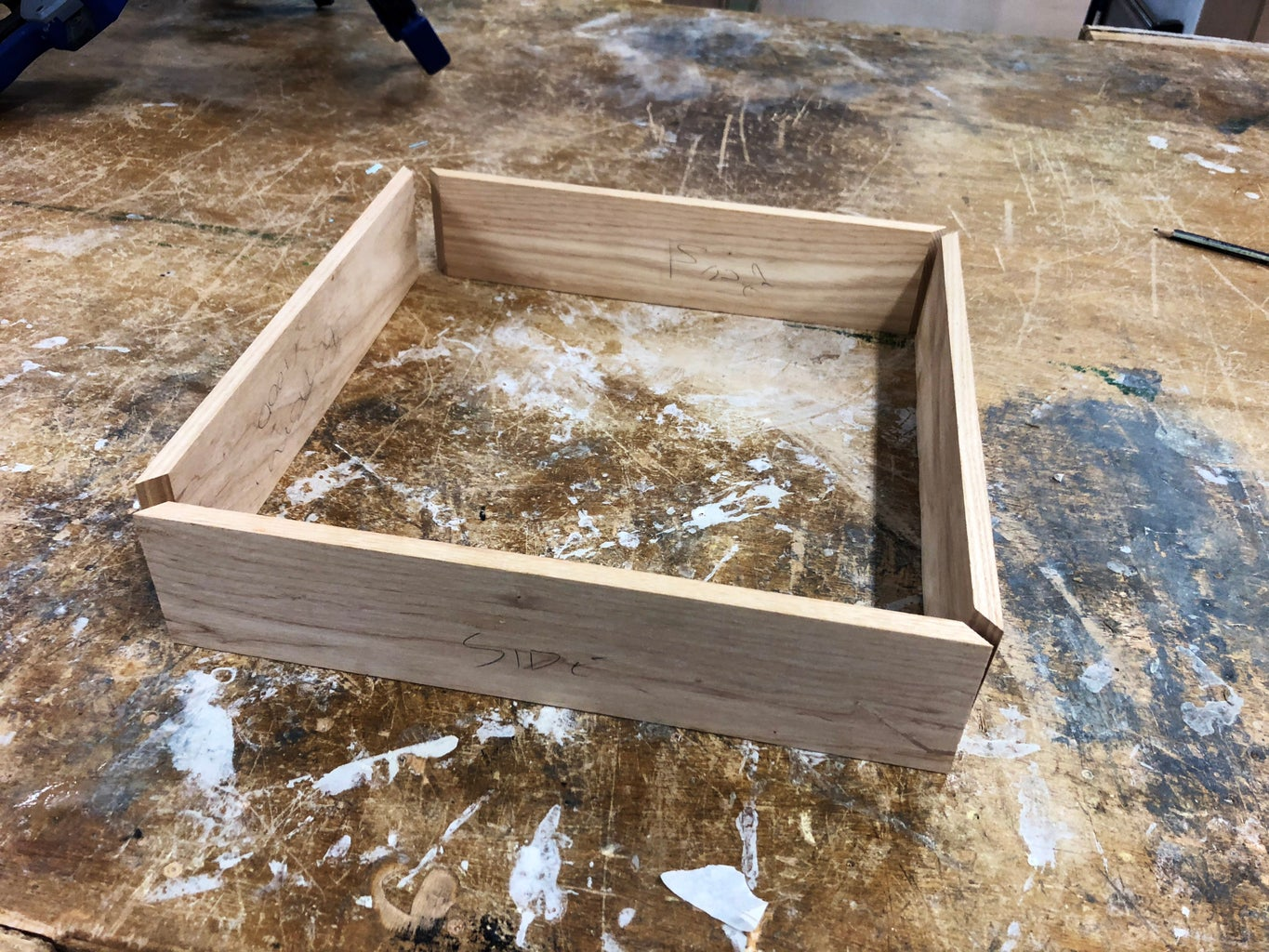 Gluing the Maple Wood Pieces Into a Frame