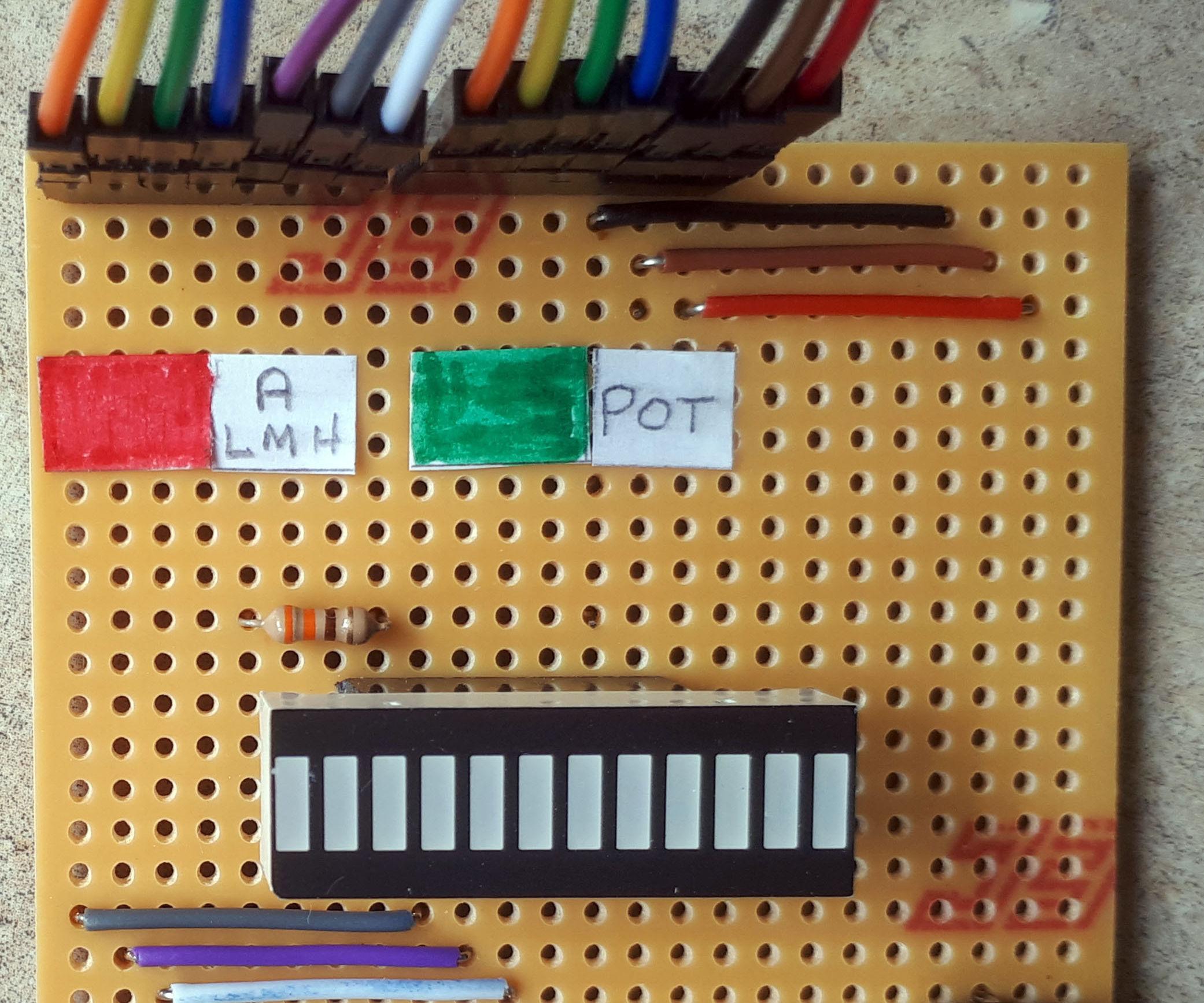 Dual Colour Bar Graph With CircuitPython
