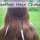 Boho Feather Hair Chain