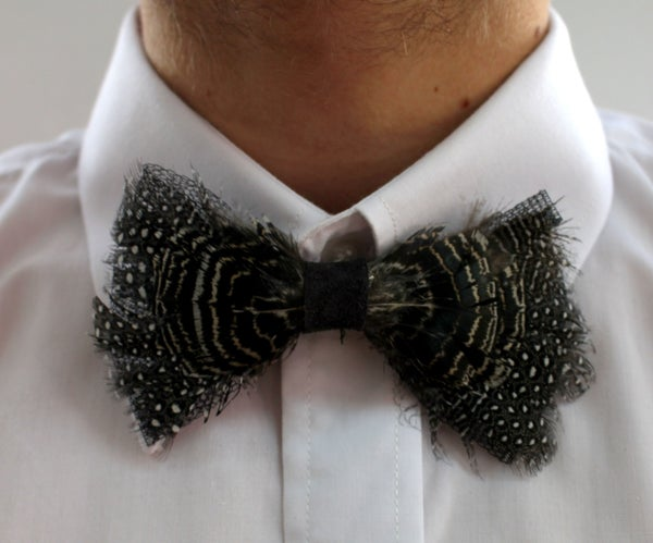 Diy Bow Tie From Featers  ( Groom's)