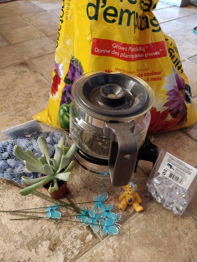 Coffee Pot Terrarium Planter