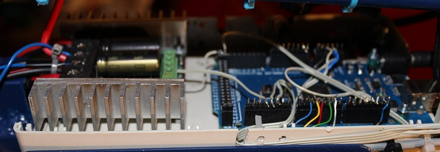 View of Orientation of Arduino Mega and Sabertooth