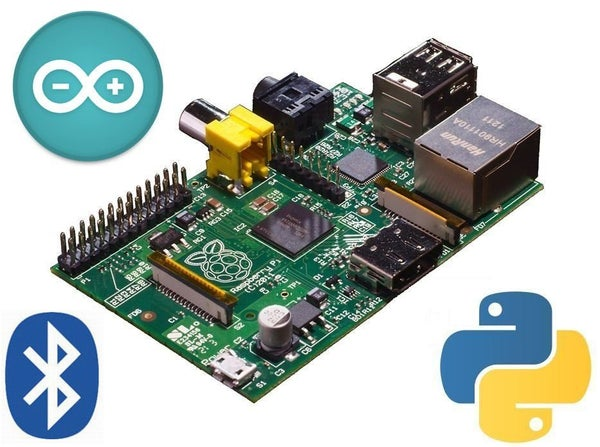 Raspberry Pi Robot Controlled Over Bluetooth