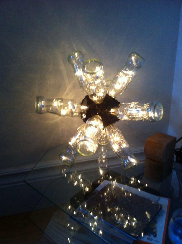 Coke Bottle Sputnik Lamp