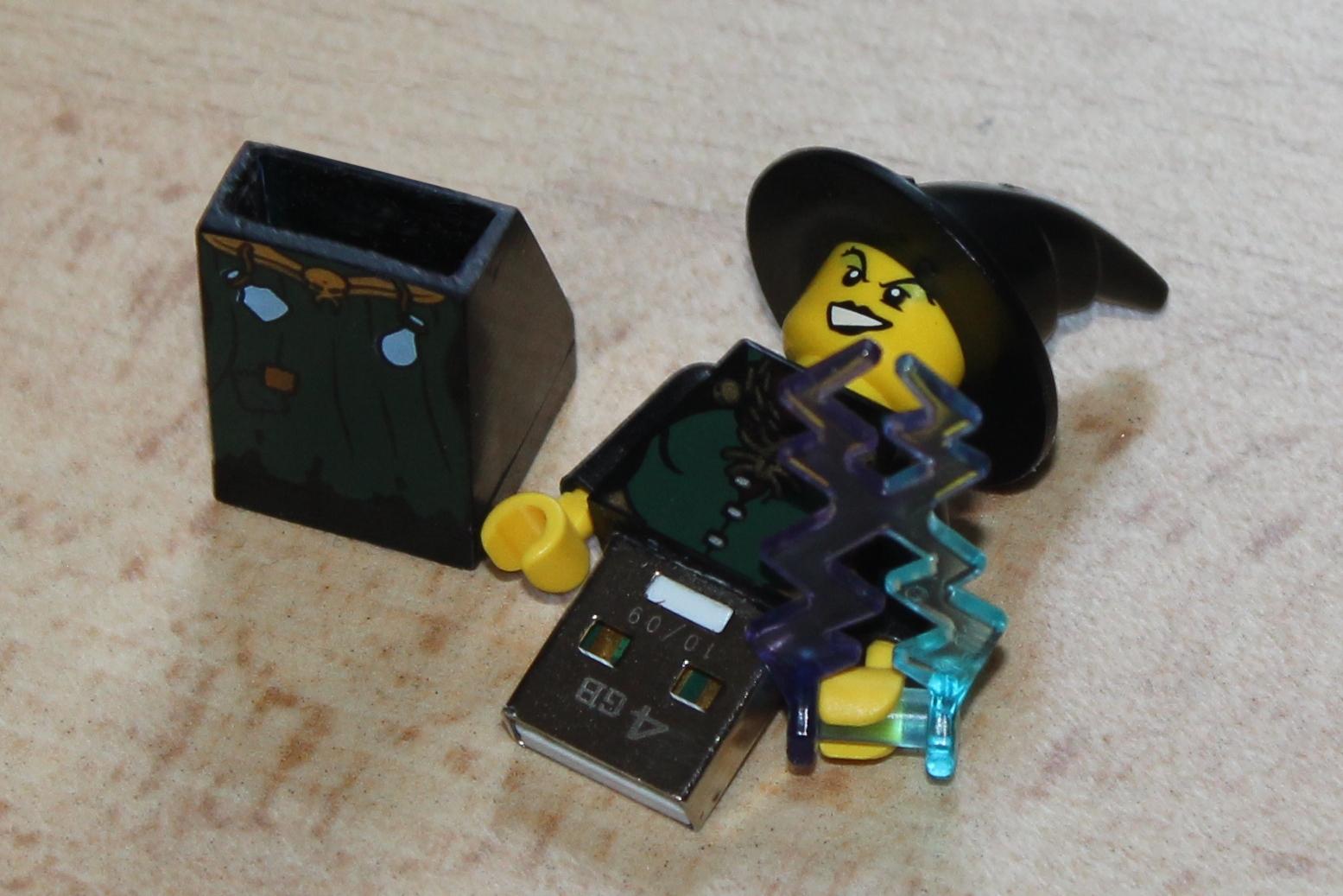Lego figure USB drive