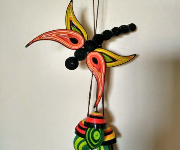 Quilled Dragonfly Dangler