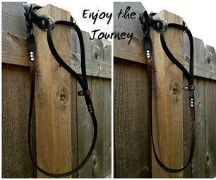Leather Dog Leash - Custom Martingale Style