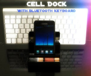 Cell Phone Dock With Bluetooth Keyboard