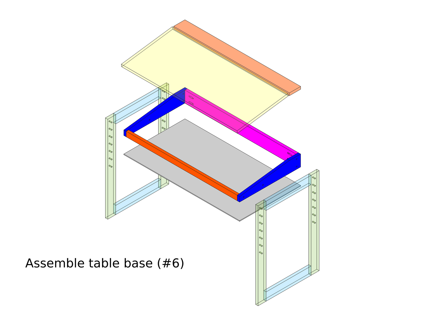 Assemble Table Base for Storage