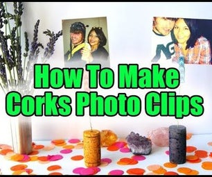How to Make Corks Photo Clips