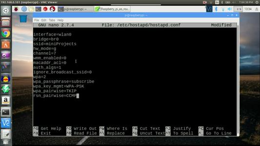 Edit /etc/hostapd/hostapd.conf