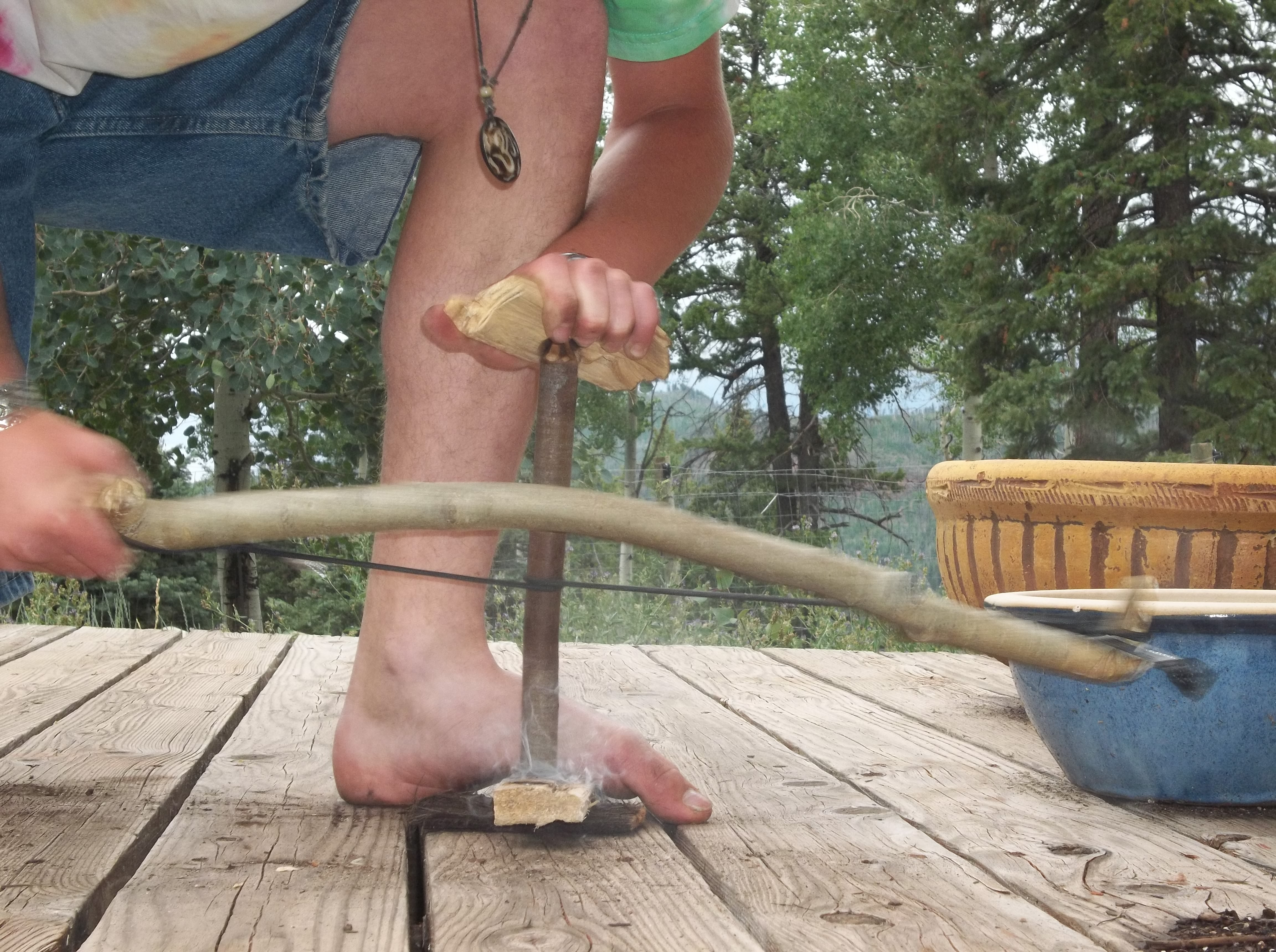 Primitive Fire Starting: The Bow Drill
