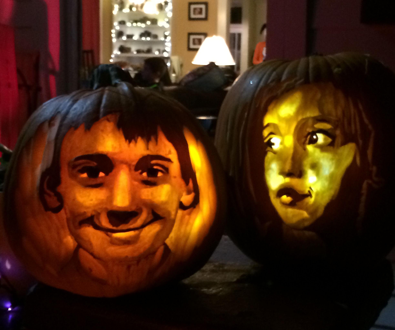 Custom pumpkin faces