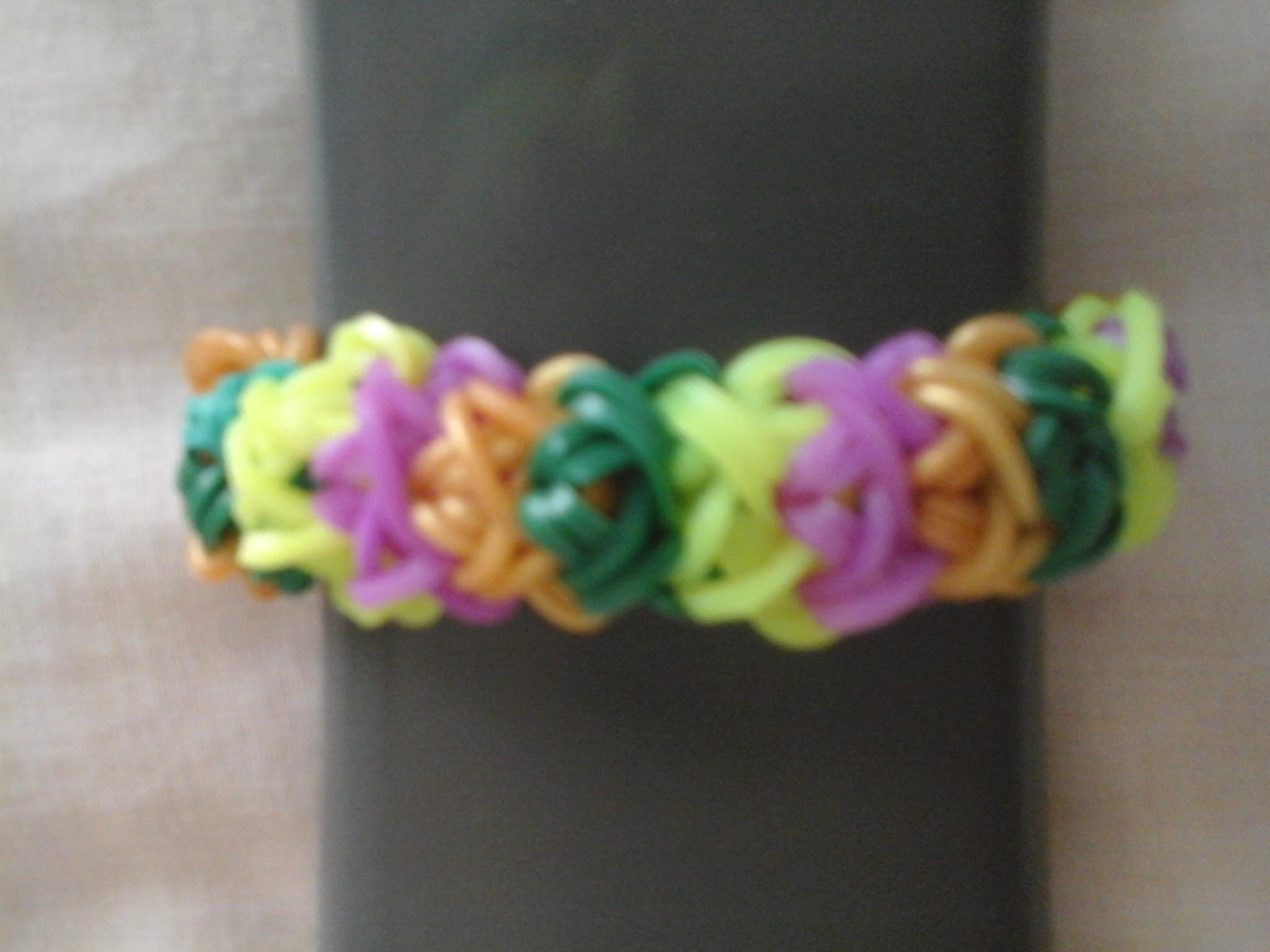 Double X loom bracelet :)