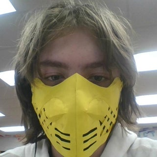 Mortal Kombat Scorpion Mask - Cardboard Box Cosplay