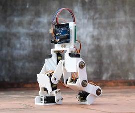 Arduino控制的机器人两足动物