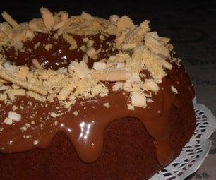 易于餐袍巧克力蛋糕