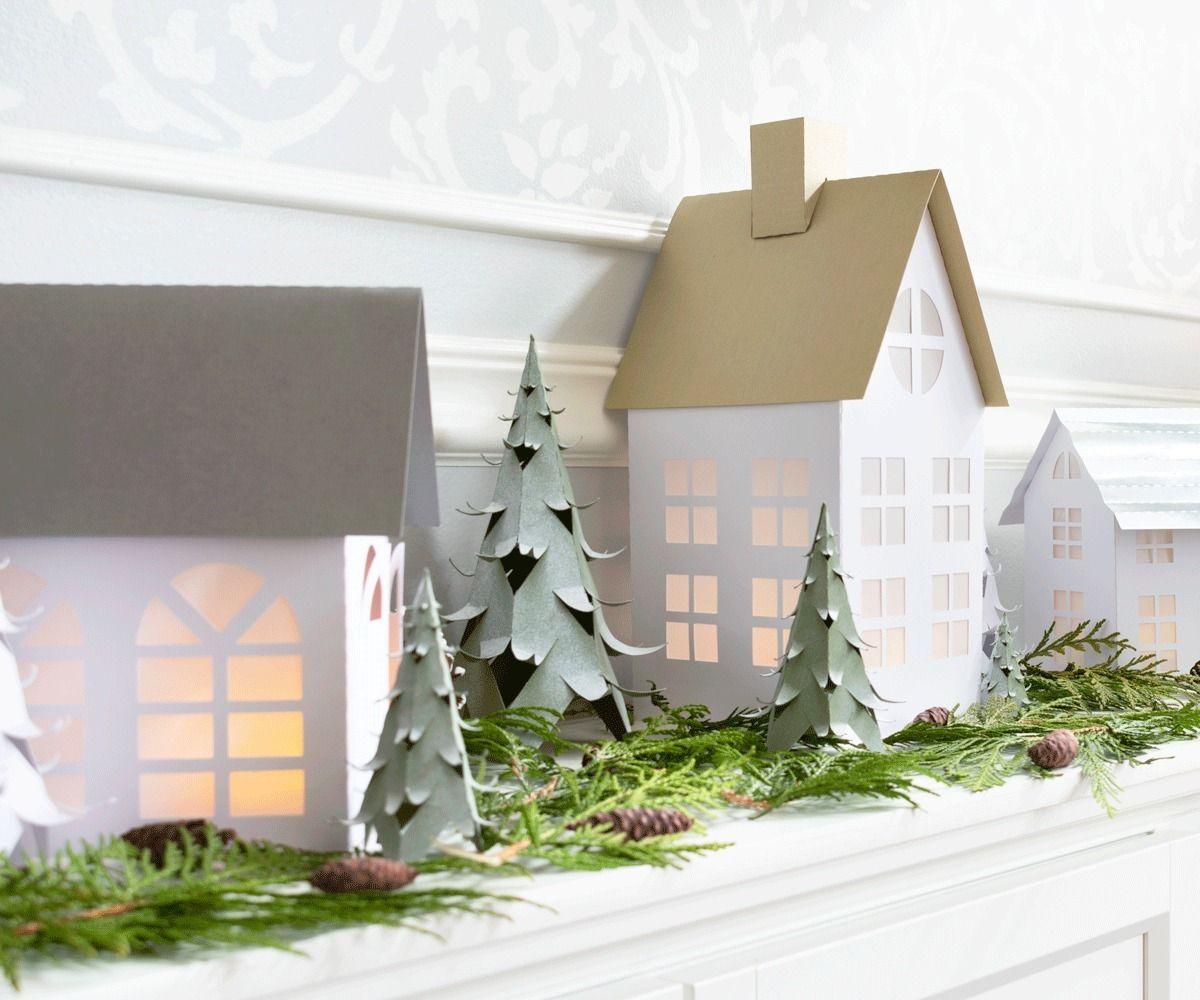 Simple Winter Village Houses
