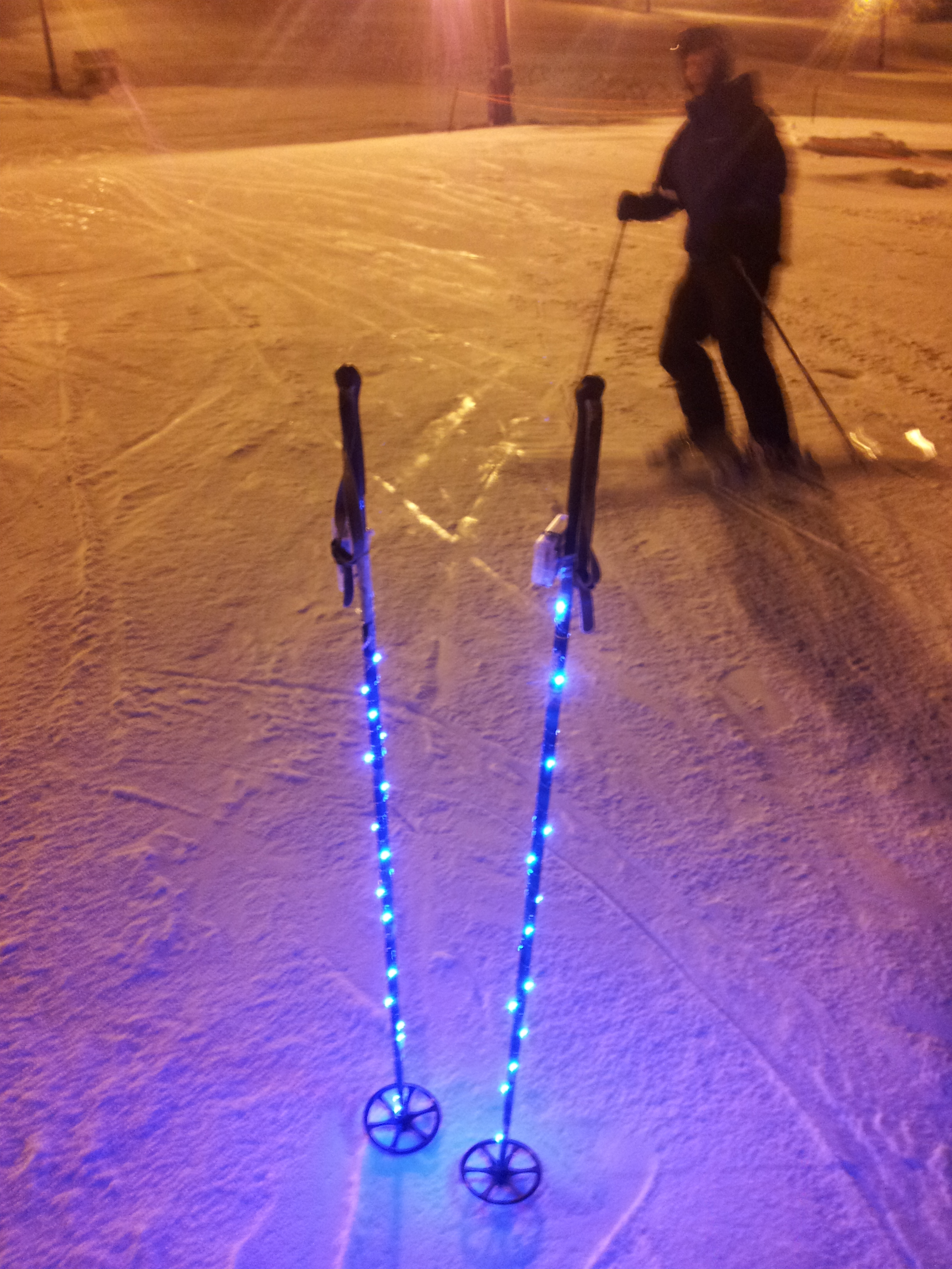 Light Up Your Ski Poles