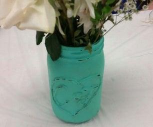 Personalized Chalk Paint Mason Jar