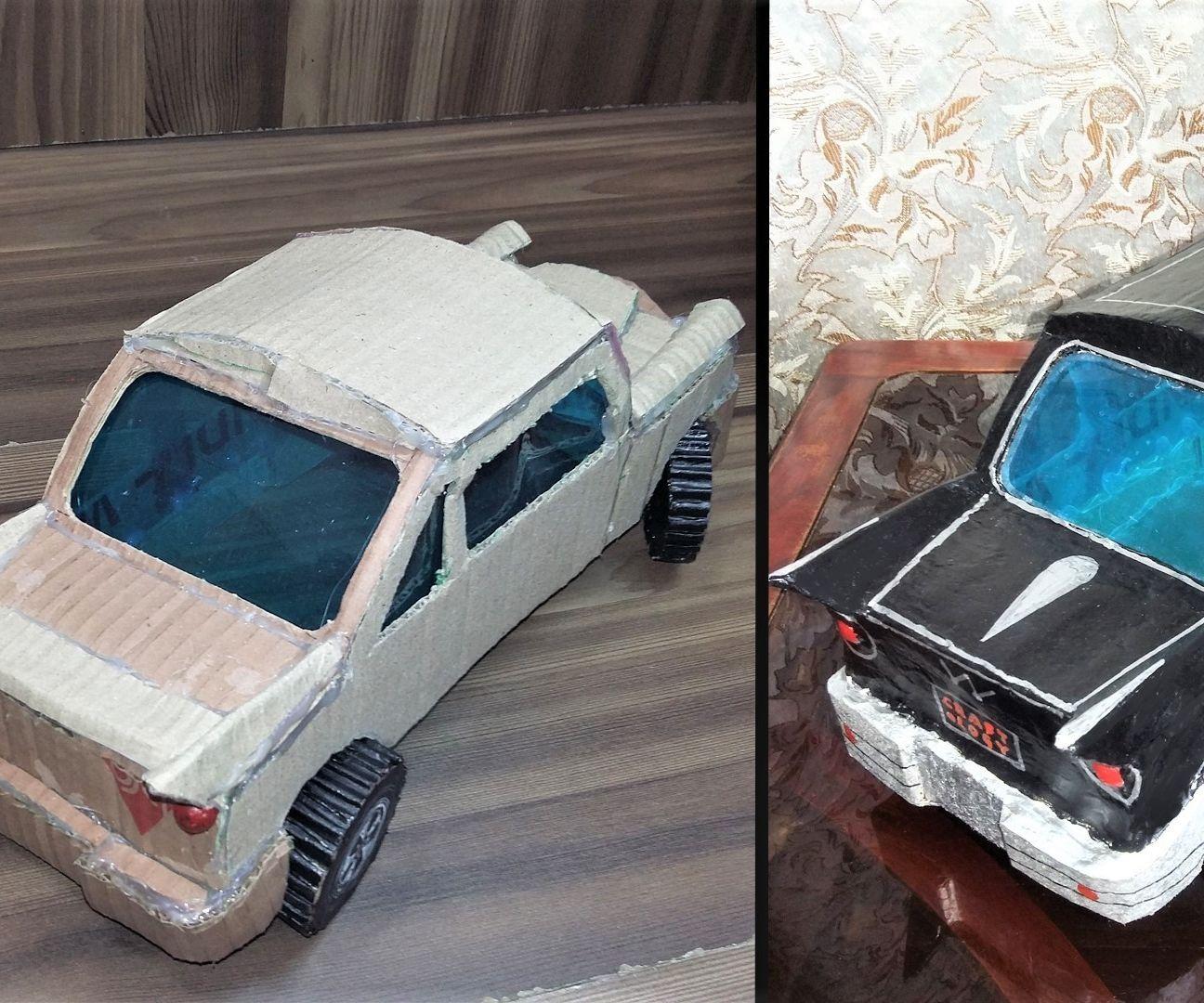 How to Make Model of Car From Cardboard|New Easy Art & Craft Tutorial Cardboard Car