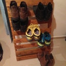 Easy Shoe Rack made from pallets for my attic