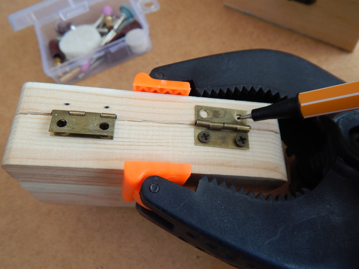 Marking the Screw Holes