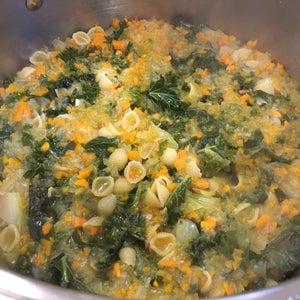Add Spinach, Broth, Seasonings
