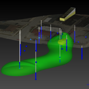 3-D visualization of a ground-water plume