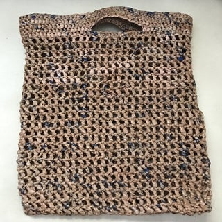 Colorful Crocheted Reusable Grocery Bags