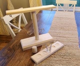 DIY Tabletop Tiki Toss Game W/Shot Ladder