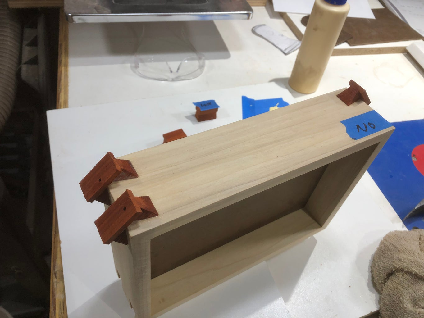 Key Glue Up, Trimming, and Sanding