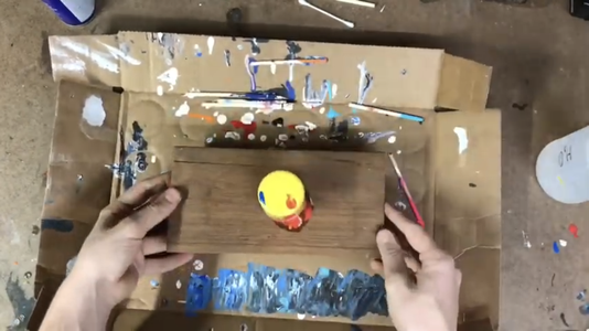Pouring the Paint