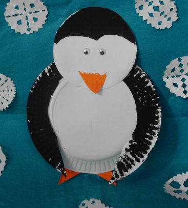 Paper Plate Penguin Craft Project for kids