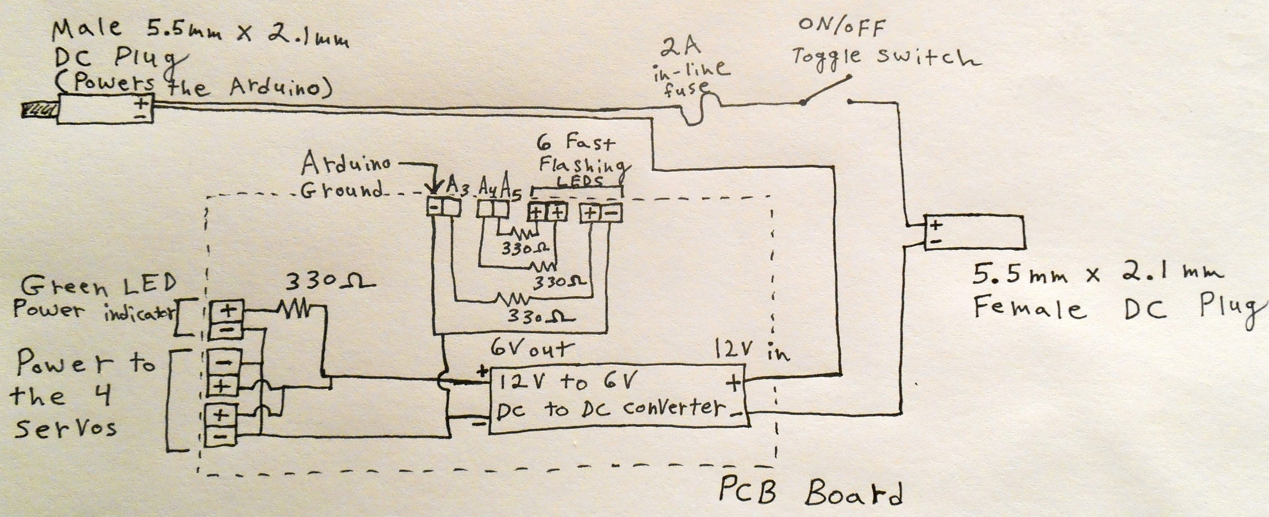 Creating the Power and LED Resistor Board