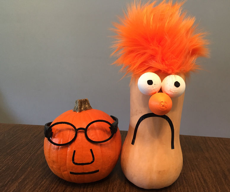 Dr. Honeydew and Beaker Halloween Gourds with 3D Printing