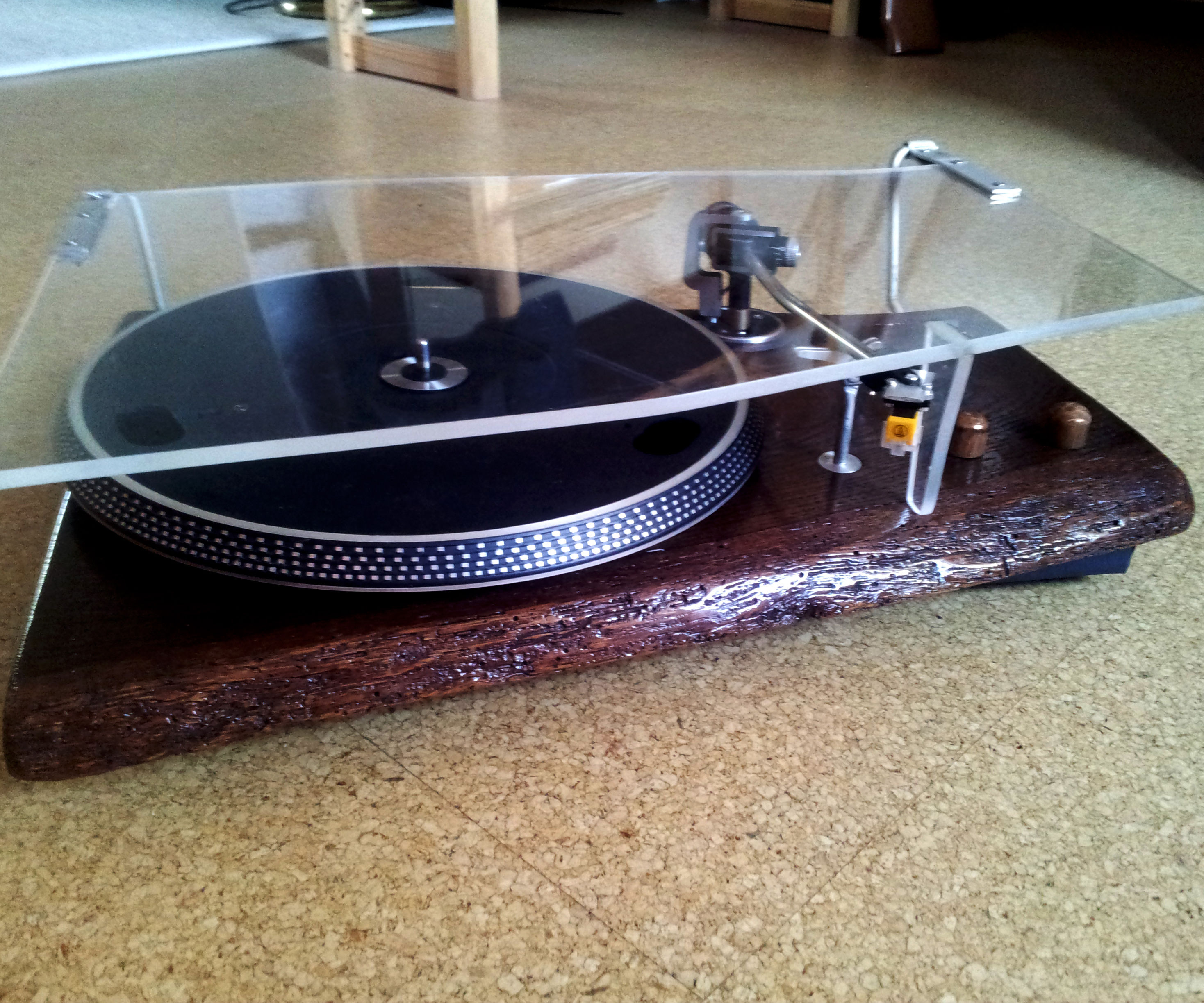 Turntable made of 100y old german oak