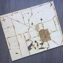 Laser Cut Hometown Map, a Great Sentimental Gift.