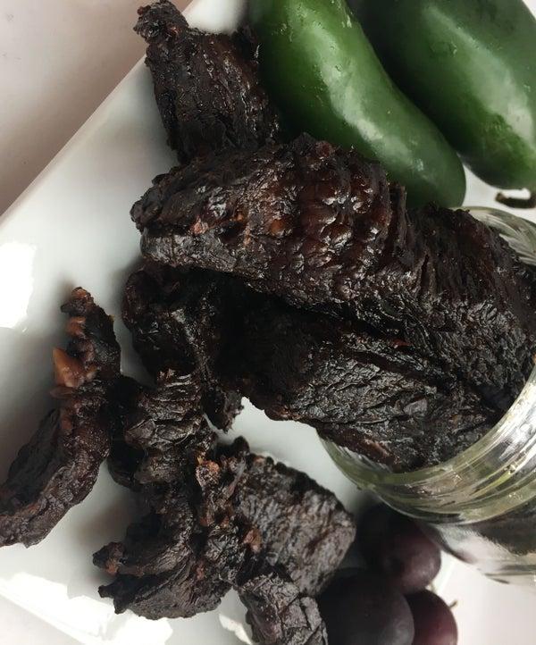 Organic Black Cherry and Jalapeño Beef Jerky