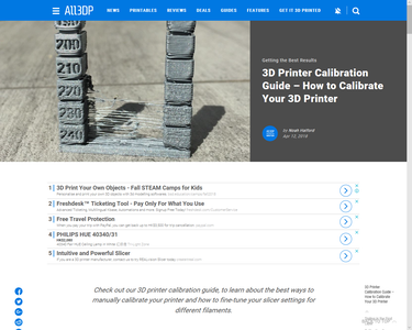 Calibrate Your 3D Printer