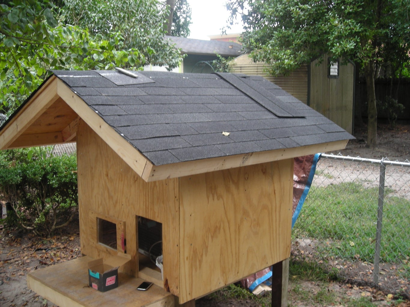 Roof Tar Paper and Shingles