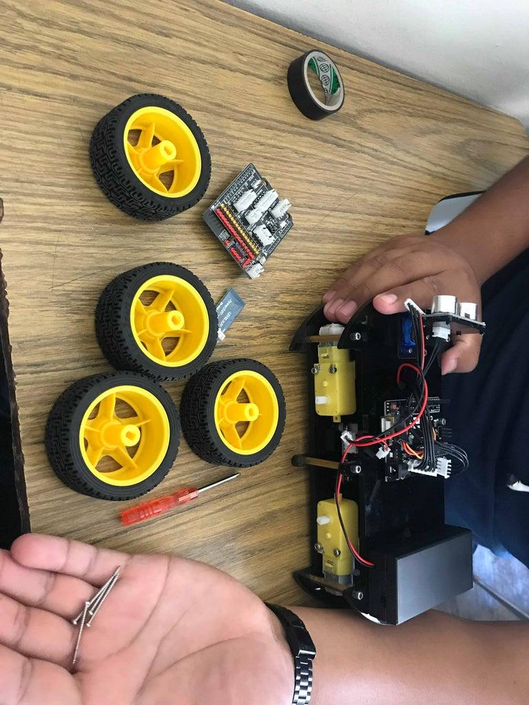 Como Poner Llantas Y Conectar Componentes En Carro Arduino